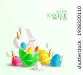 happy easter holiday card.... | Shutterstock .eps vector #1938320110