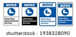 notice sign safety shoes... | Shutterstock .eps vector #1938328090