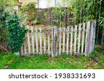 Old Wooden Gate Home Worn And...