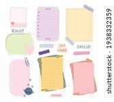 blank reminder paper notes ... | Shutterstock .eps vector #1938332359