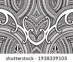 polynesian ornament tattoo...   Shutterstock .eps vector #1938339103