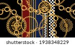 seamless pattern decorated with ... | Shutterstock .eps vector #1938348229