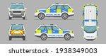 English Police Car. Cartoon...
