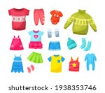cute knitted warm winter... | Shutterstock .eps vector #1938353746