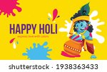 banner design of happy holi... | Shutterstock .eps vector #1938363433