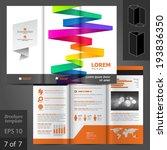 vector white brochure template... | Shutterstock .eps vector #193836350