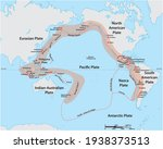 vector map of the pacific ring... | Shutterstock .eps vector #1938373513