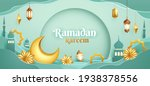 ramadan kareem paper graphic of ... | Shutterstock .eps vector #1938378556