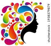 beautiful woman profile...   Shutterstock .eps vector #1938379879