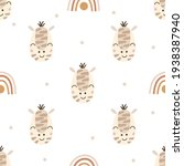 seamless pattern with zebras.... | Shutterstock .eps vector #1938387940