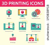 3d printing vector icons in... | Shutterstock .eps vector #193838918