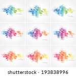 vector abstract multicolored... | Shutterstock .eps vector #193838996