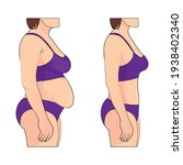 woman s body before and after... | Shutterstock .eps vector #1938402340