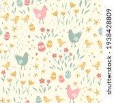 lovely hand drawn easter...   Shutterstock .eps vector #1938428809