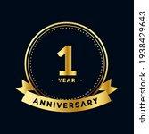 first year anniversary...   Shutterstock .eps vector #1938429643