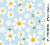 seamless pattern with daisy... | Shutterstock .eps vector #1938430333