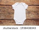 White Baby Bodysuit Mock Up....