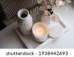 Luxurious White Tray Decoration ...