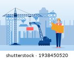 vector of an architect in a... | Shutterstock .eps vector #1938450520