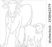 cow coloring page for children ... | Shutterstock .eps vector #1938462379