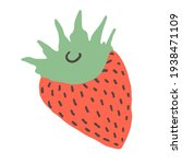 minimalistic red strawberry...   Shutterstock .eps vector #1938471109