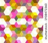 hexagon grid seamless vector...   Shutterstock .eps vector #1938472360
