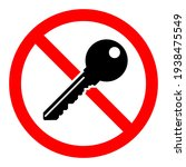 key is prohibited. no key icon. ... | Shutterstock .eps vector #1938475549