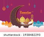 crescent islamic hanging... | Shutterstock .eps vector #1938482293