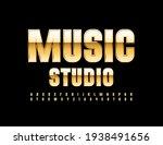 vector chic logo music studio.... | Shutterstock .eps vector #1938491656
