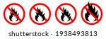 make a fire is prohibited. no... | Shutterstock .eps vector #1938493813