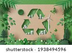 recycle symbol with many... | Shutterstock .eps vector #1938494596