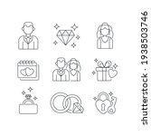 wedding linear icons set. man... | Shutterstock .eps vector #1938503746