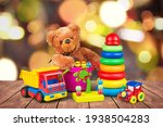 Many colorful toys collection...