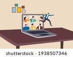 ending covid 19 lockdown ... | Shutterstock .eps vector #1938507346