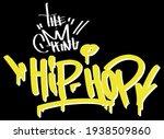 urban street art style graffiti ... | Shutterstock .eps vector #1938509860