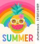 cute cartoon pineapple with... | Shutterstock .eps vector #1938514489
