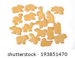 Animal Shaped Cracker Isolated...