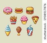 pixel art   fast food | Shutterstock .eps vector #1938517876