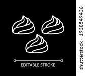 meringue white linear icon for...   Shutterstock .eps vector #1938549436