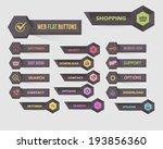 vector flat modern web buttons...