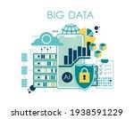 data visualization concept  big ... | Shutterstock .eps vector #1938591229