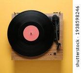 Modern Turntable With Vinyl...