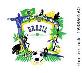 brazil background | Shutterstock .eps vector #193860560