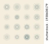 set of sunbursts. graphic burst ...   Shutterstock .eps vector #1938608179