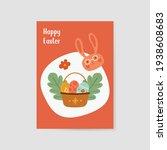 easter art  happy easter... | Shutterstock .eps vector #1938608683