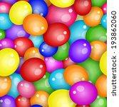 balloons seamless pattern... | Shutterstock . vector #193862060