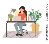 women who work from home.... | Shutterstock .eps vector #1938644779