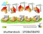 logic game for smartest. 3d... | Shutterstock .eps vector #1938658690