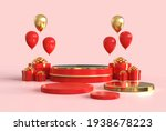 3d round podium for display... | Shutterstock . vector #1938678223