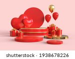 3d round podium for display... | Shutterstock . vector #1938678226